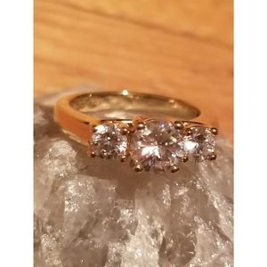 Vtg Gold plated over .925 engagement ring